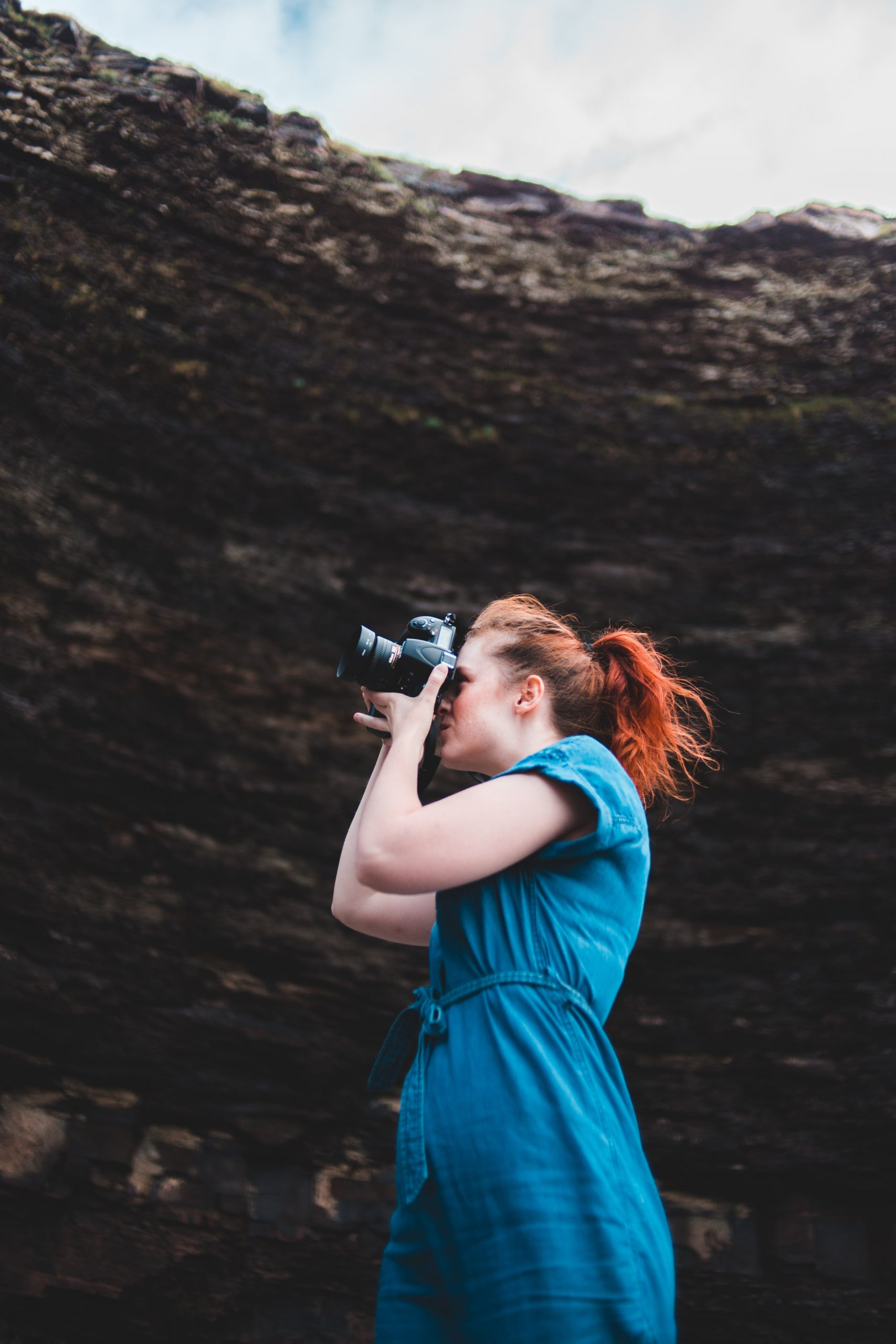 Photographer practicing skills